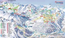 Mapa lyžařského střediska Zillertal 3000