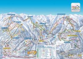 Mapa lyžařského střediska Zillertal Arena