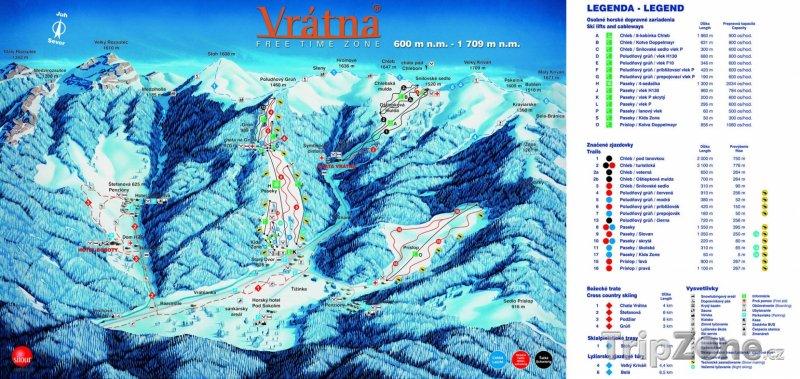 Fotka, Foto Mapa lyžařského střerdiska Vrátna