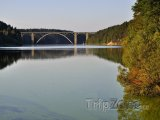 Orlická přehrada, Žďákovský most