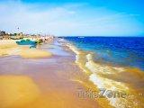 Pláž v oblíbeném turistickém letovisku Rimini