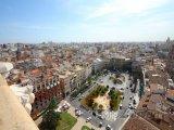 Pohled na město z valencijské katedrály