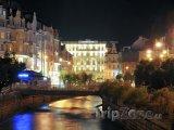 Řeka Teplá v noci