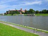 Řeka Visla a wawelský hrad