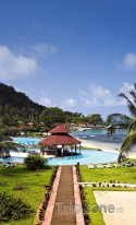 São Tomé, hotelové rezorty na pobřeží