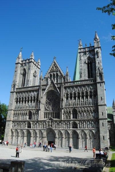 Fotka, Foto Trondheim, Nidaroská katedrála (Norsko)