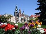 Zahrada před wawelskou katedrálou