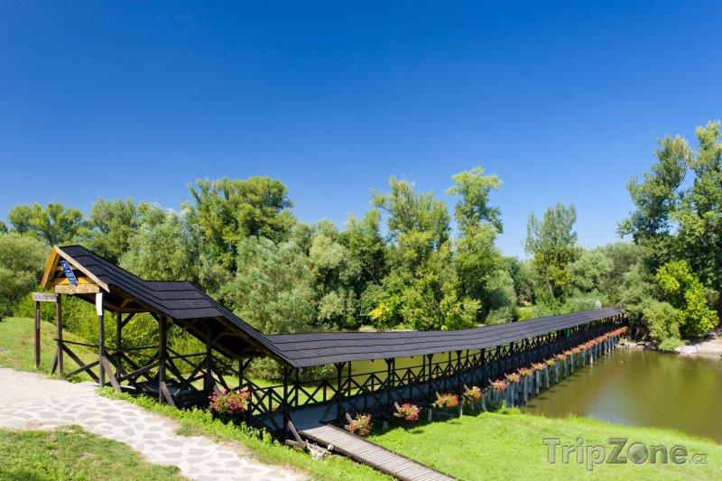 Fotka, Foto Kolárovo, dřevěný most (Slovensko)