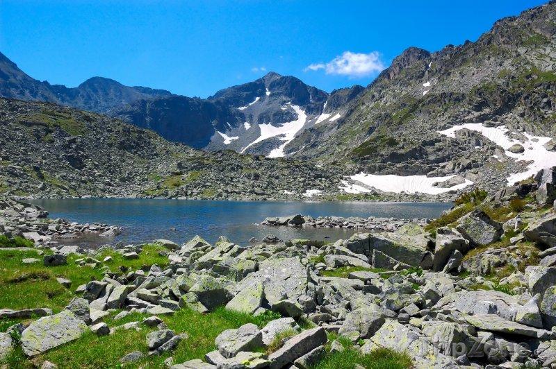 Fotka, Foto Pohled na horu Musala v pohoří Rila (Bulharsko)