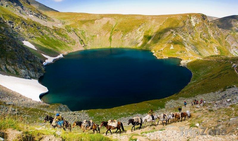 Fotka, Foto Pohoří Rila, jedno ze sedmi Rilských jezer (Bulharsko)