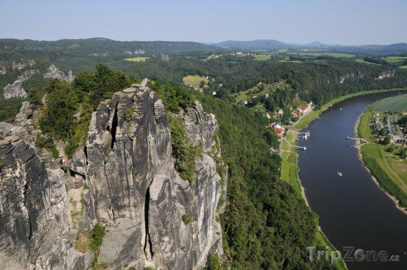 Fotka, Foto Saské Švýcarsko, řeka Labe (Německo)