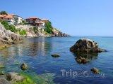 Sozopol, domy na pobřeží