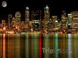 Úplněk nad Seattlem