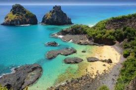 Pláž na ostrově Fernando de Noronha