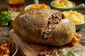 Skotské národní jídlo haggis