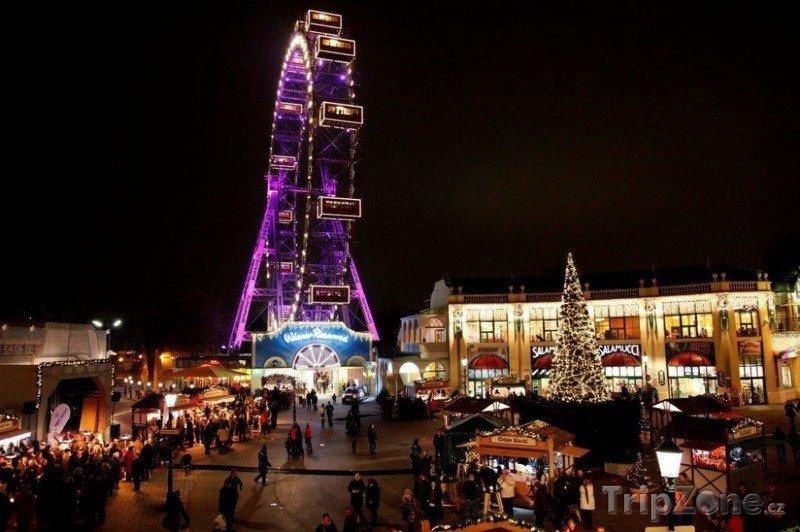 Fotka, Foto Vánoční trhy Vídeň - ruské kolo