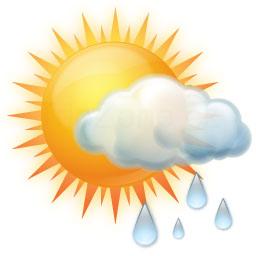 Slabé dešťové přeháňky