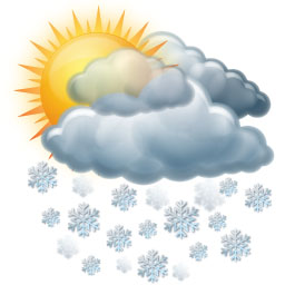 Slabé sněhové přeháňky