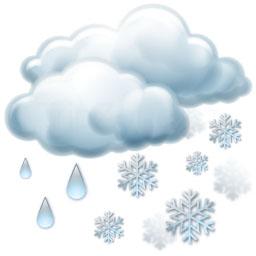 Silný déšť se sněhem